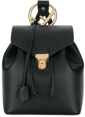 Fendi Calf Leather Classic Logo Backpack