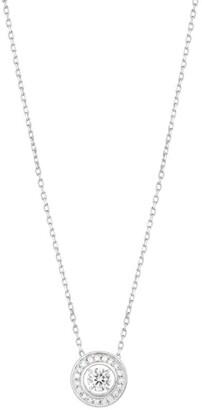 Boucheron White Gold and Diamond Ava Round Pendant Necklace