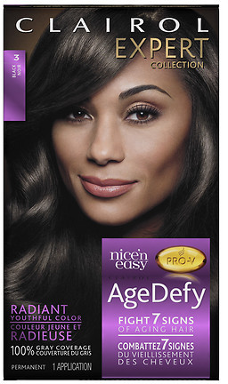 Clairol Age Defy Expert Collection Hair Color 3 Black