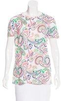 Jil Sander Paisley Print Short Sleeve T-Shirt