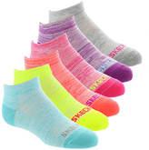 Skechers Girls' S106677 6-Pack Non Terry Low Cut Socks