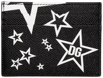 Dolce & Gabbana Black Millennial Star Card Holder