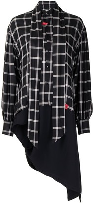 Maison Mihara Yasuhiro Asymmetric Check Panelled Shirt