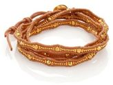 Chan Luu Beaded Leather Multi-Row Wrap Bracelet