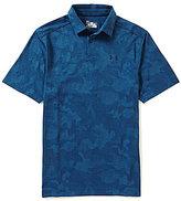 Under Armour Golf Threadborn Camo Jacquard Short-Sleeve Polo Shirt