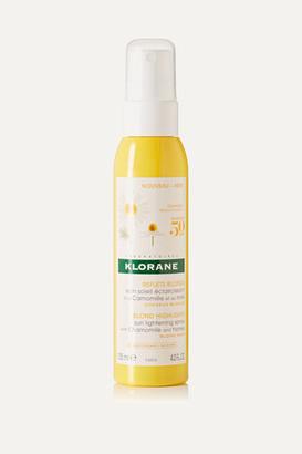 Klorane Sun Lightening Spray With Chamomile And Honey, 125ml - Colorless