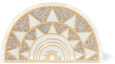 Charlotte Olympia Irona Mirror-embellished Glittered Perspex Clutch - Cream