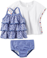 Carter's 3-Pc. Printed Tankini & Cover Up Set, Baby Girls (0-24 months)