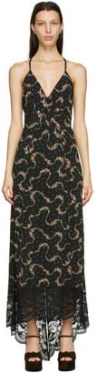 Paco Rabanne Black Floral Halter Dress