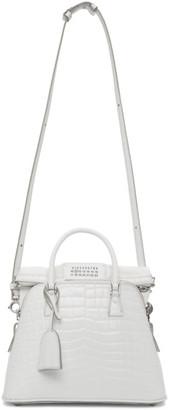 Maison Margiela White Croc Medium 5AC Bag
