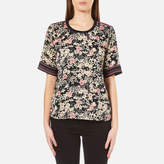 Maison Scotch Women's Silky Feel Top with Placement Prints Multi