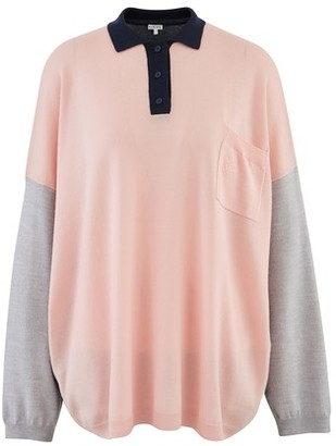 Loewe Oversized long-sleeved polo shirt