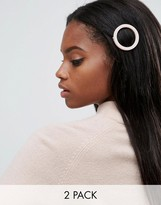 Asos Pack Of 2 Soft Open Hair Clips