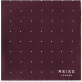 Reiss Helmar Silk Dotted Pocket Square