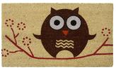 Hooo's There? Owl Doormat