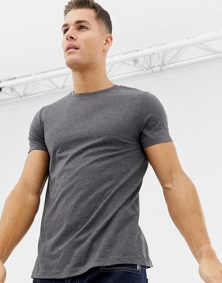 Asos Design DESIGN t-shirt with crew neck in charcoal marl