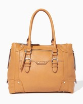 Charming charlie Oversized Buckle Tote