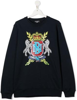 Neil Barrett Kids TEEN graphic print cotton sweatshirt