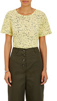 Proenza Schouler Women's Knot-Back T-Shirt-GREEN