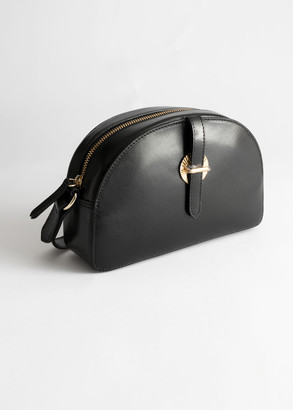 And other stories Leather Half Moon Crossbody Bag