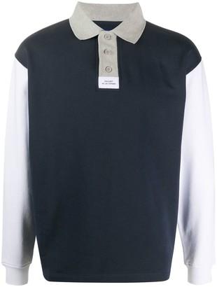 Paccbet Colour Block Elbow Patch Sweatshirt