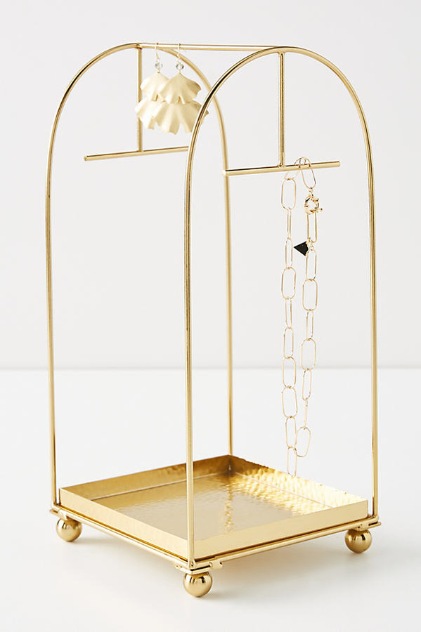 Cecilia Jewelry Stand By Anthropologie in Gold Size ALL
