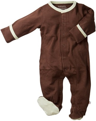 Baby Soy Basic Snap Footie (3-6 Months Brown )
