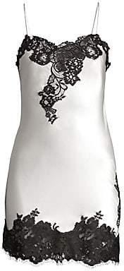 Oscar de la Renta Sleepwear Women's Silk Lace Chemise