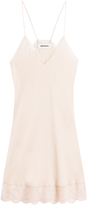 Zadig & Voltaire Silk Slip Dress with Lace