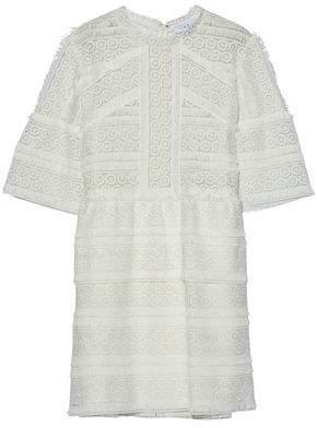 IRO Fringed Guipure Lace Mini Dress
