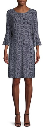Tommy Hilfiger Geometric-Print Shift Dress