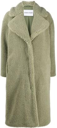 Stand Studio Long Faux Fur Coat