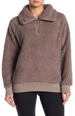 Zella Z By Power Up Cozy Faux Shearling Pullover