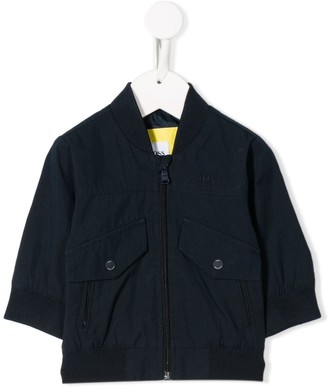 Boss Kids Front-Pocket Bomber Jacket