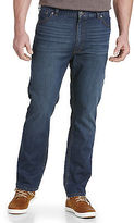 True Nation Athletic-Fit Washed Blue Jeans Casual Male XL Big & Tall