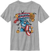 Fifth Sun Boys' Tee Shirts ATH - Captain America Athletic Heather Pumpkins Tee - Boys