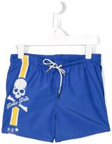 Philipp Plein White Sand beach shorts