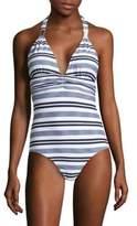 Heidi Klein Marthas Vineyard One-Piece Striped Swimsuit