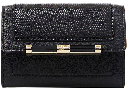 Diane von Furstenberg 440 Flap Leather Card Case