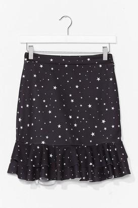 Nasty Gal Womens At the Star-t Ruffle Mini Skirt - Black - 10