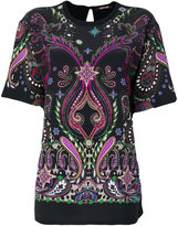 Roberto Cavalli appliqué blouse - women - Silk/Cotton - 44