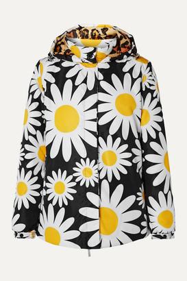 MONCLER GENIUS 0 Richard Quinn Connie Hooded Floral-print Shell Down Jacket - Black