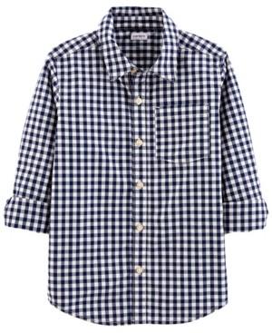 Carter's Big Boys Gingham Poplin Button-Front Shirt