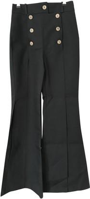 Awake Black Cotton Trousers for Women