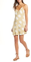 Billabong Sweet for Ya Floral Button Front Tie Back Minidress