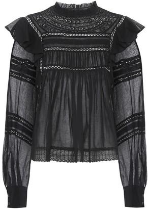 Etoile Isabel Marant Viviana ruffled cotton blouse
