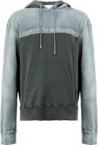 Saint Laurent slogan print hoodie