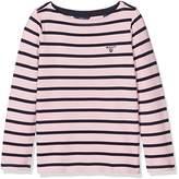 Gant Girl's Breton Boatneck Sweater Long Sleeve Top,(Manufacturer Size: 98/104)