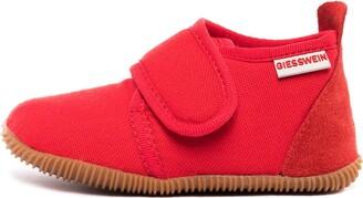 Giesswein Kids Slipper Strass Slim Fit red 21 - Houseshoes with Velcro Fastener for Boys & Girls Unisex Children's Slippers Made of Cotton Non-Slip Ideal for kindergartens