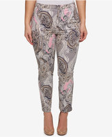 Tommy Hilfiger Plus Size Paisley Cropped Pants